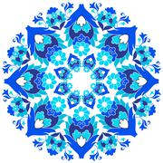 ottoman motifs design series with eleven version - stock illustration