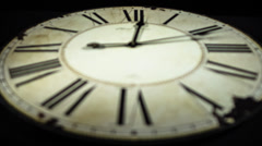 Old antique watch timelapse Stock Footage