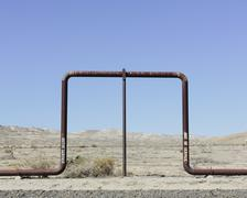 Crude oil extraction from Monterey Shale near Bakersfield, California, USA. Stock Photos