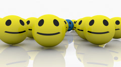 Group of smileys episode 2 Stock Footage