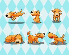 Happy dog - stock illustration
