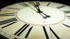 vintage clock timelapse zoom in - stock footage