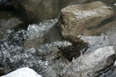 rocky water - stock photo