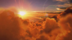 Clouds morning  fly. Flying through clouds Arkistovideo