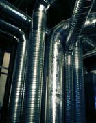 Ventilation pipes of an air condition Stock Photos