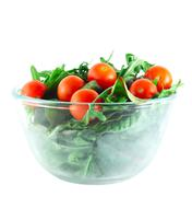 Rucola ,Chard and cherry tomatoes salad Stock Photos