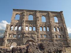 Roman Theatre Aosta - stock photo