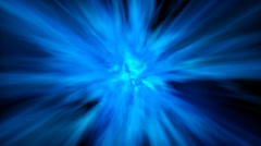 Abstract blue plasma tunnel, 3d rendering Stock Footage