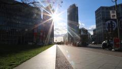Berlin Potsdamer Platz Stock Footage