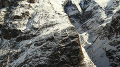 Snowy Mountains. Aerial View: Annapurna conservation area, Nepal. Stock Footage
