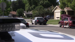 Police action, investigation and searching. Stock Footage