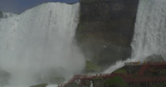 Panning Right in Niagara Falls Stock Footage