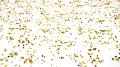 4K Golden drops fall down and smash with slow motion Stock Footage
