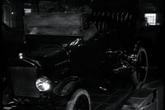 Starting Model T Ford - stock footage