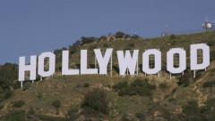 Hollywood Sign in Los Angeles, CA Stock Footage