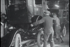 Stock Video Footage of Model T Ford body assembly
