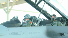 F-16D Fighting Falcon  Pilots Training at Coronet Cactus 2014 Stock Footage