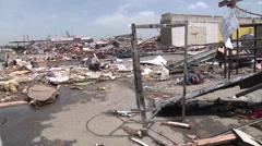April 27th Tornado that hit Mayflower and Vilonia Arkansas Stock Footage