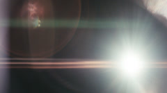 Anamorphic Lens Flares 2.5K - Warm, Direct Stock Footage