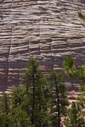Checkerboard pattern of cross current sandstone layers Stock Photos