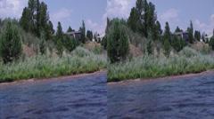 3d heron lake Stock Footage