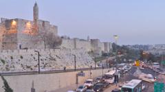 Car traffic in Jerusalem, Israel Stock Footage