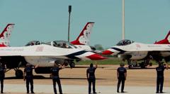 USAF Thunderbirds Air Show Stock Footage