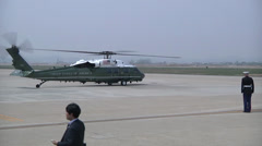 President Obama Arrives in Osan, Korea Stock Footage