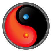 Yin Yang Hot & Cold Stock Illustration