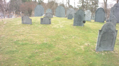 Concord cemetary pan Stock Footage