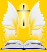 Easter reading Stock Illustration