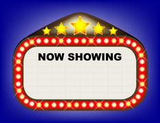 Movie theatre marquee Stock Illustration