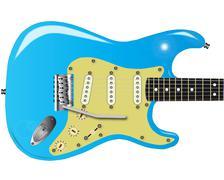 50's electric guitar Stock Illustration
