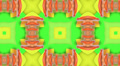 Lime kaleidoscope background, loop Footage