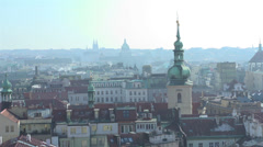 City of Prague overview Stock Footage