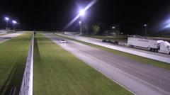 White Ferrari on track Stock Footage