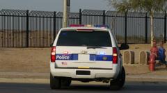 Phoenix Police SUV with flashing lights Stock Footage