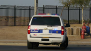 Stock Video Footage of Phoenix Police SUV with flashing lights