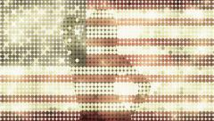 Vintage American flag sexy dancer glitter background - 1080p Stock Footage