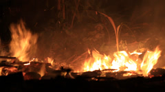 Conflagration out of control night - stock footage