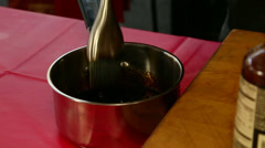 Stirring Sauce in Pot - stock footage