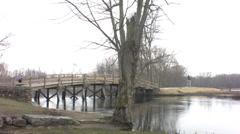 Old north bridge Stock Footage