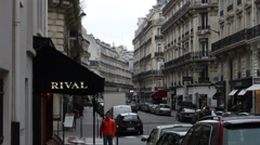 1525 Street in Paris France Buildings Stock Footage