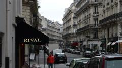 1525 Street in Paris France Buildings - stock footage