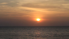 Beautiful sunset at the sea on the island Malapascua , Philippines Stock Footage