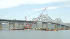 New Tappan Zee Bridge Construction 2 Stock Footage