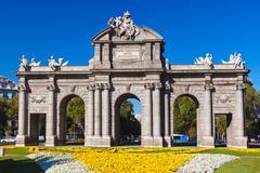 The Puerta de Alcala - Madrid Spain Stock Photos