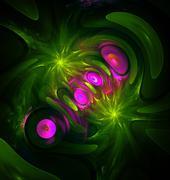 Mitosis. Computer generated fractal. Stock Photos