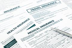 medical insurance form and paperwork for insurance business - stock photo
