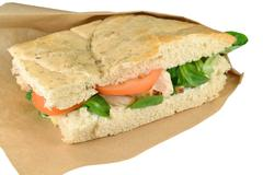 Pane Tuscany with chicken strips. Stock Photos